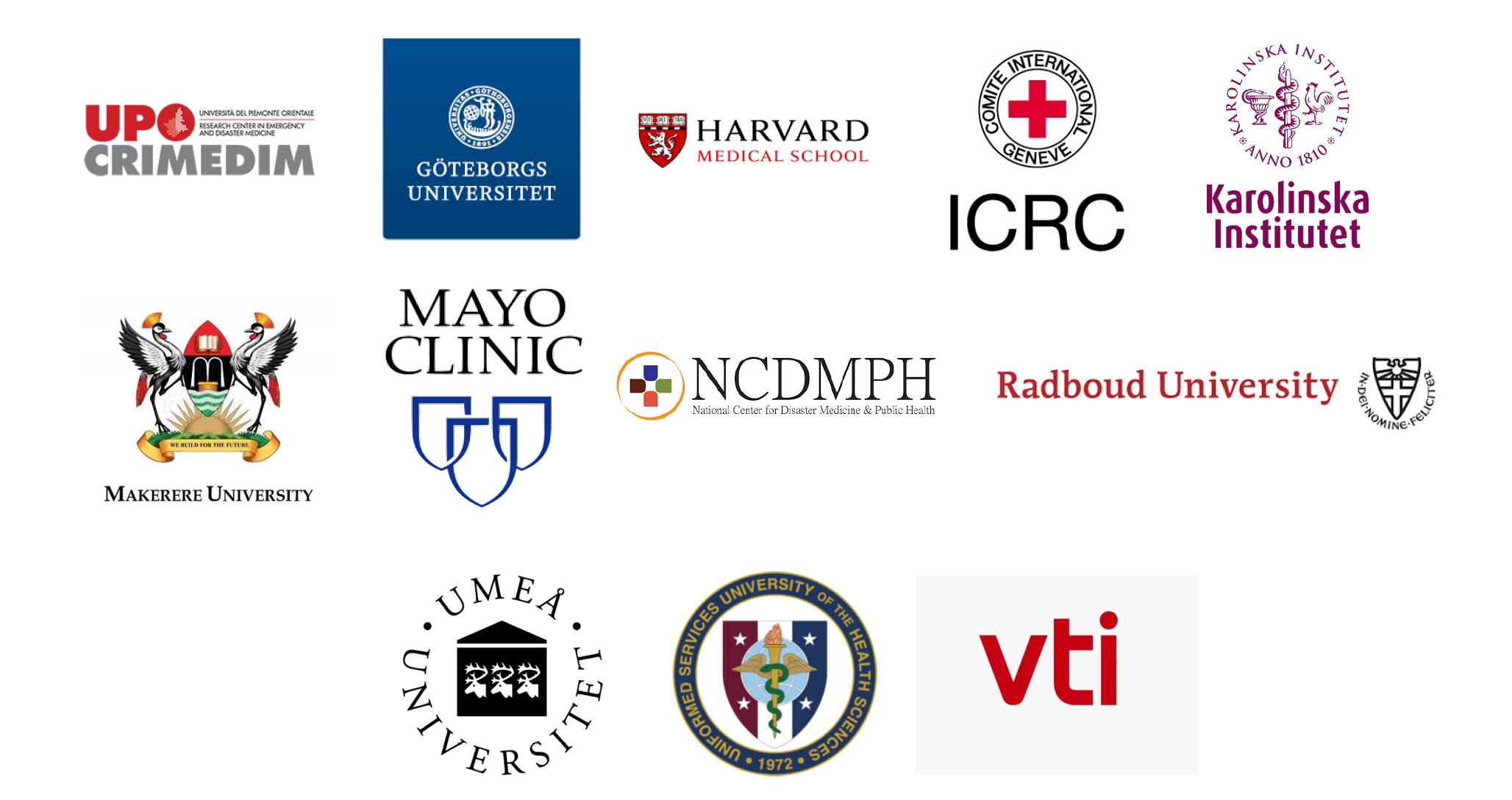 Logotypes of collaborators to KMC